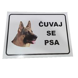 PLOČICA OŠTAR PAS 21X30 CM